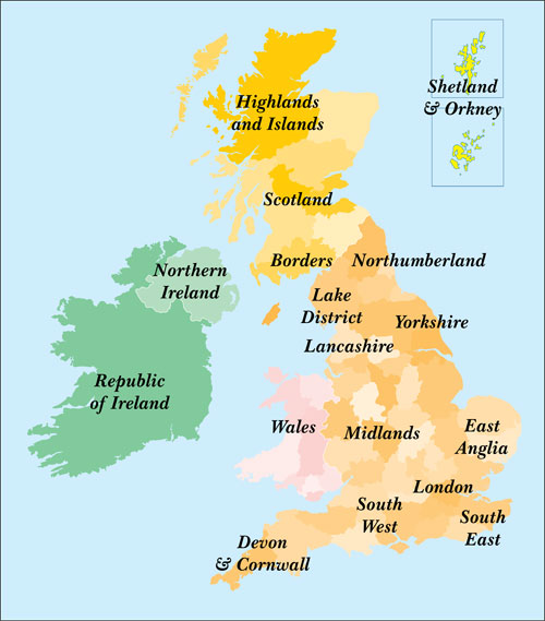 Click to select the area of Great Britain, including England, Scotland,